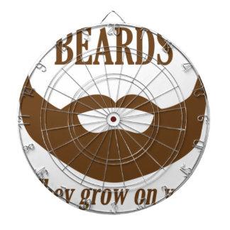 BEARDS THEY GROWN ON YOU DARTBOARD