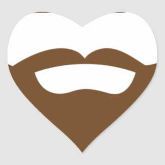 BEARDS THEY GROWN ON YOU HEART STICKER