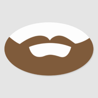BEARDS THEY GROWN ON YOU OVAL STICKER