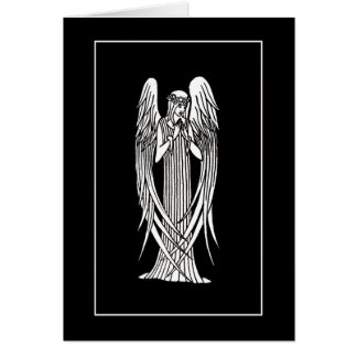 Beardsley Angel Art Nouveau Note Card