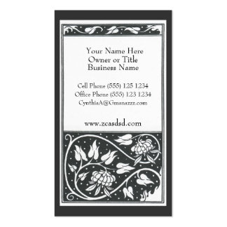Beardsley Black and White Pomegranite Photo Busine Pack Of Standard Business Cards