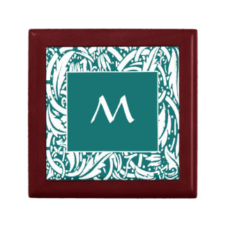 Beardsley Nouveau Custom Monogram Tile Gift Box