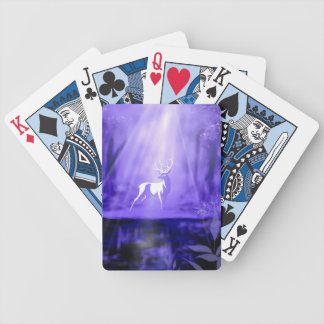 Bearer of Wishes - White Stag Bicycle Playing Cards