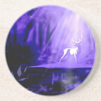 Bearer of Wishes - White Stag Coaster