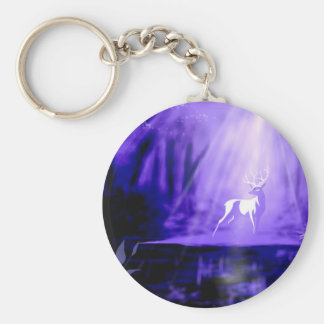 Bearer of Wishes - White Stag Keychain