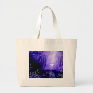 Bearer of Wishes - White Stag Large Tote Bag