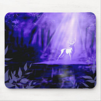 Bearer of Wishes - White Stag Mouse Pad