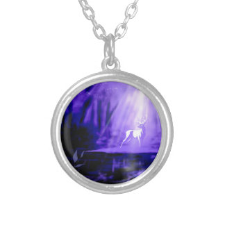 Bearer of Wishes - White Stag Silver Plated Necklace