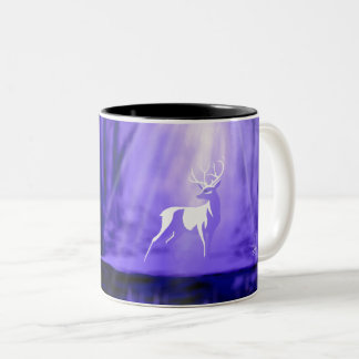Bearer of Wishes - White Stag Two-Tone Coffee Mug