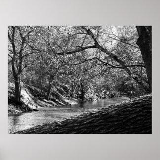 Beargrass Creek (Black & White Photo Print) Poster