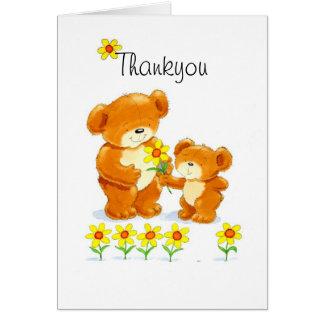 Bearhugs 'Thankyou' card