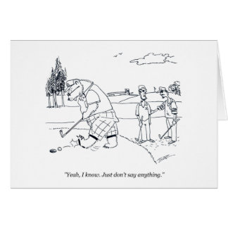 Bearly Golf golf cartoon greeting card