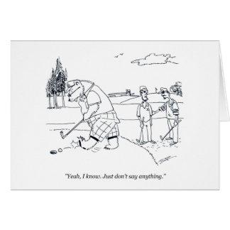 Bearly Golf golf cartoon humor greeting card