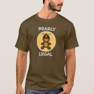 Bearly Legal Teddy Bear Cream Circle T-Shirt