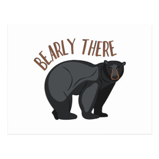 Bearly There Postcard