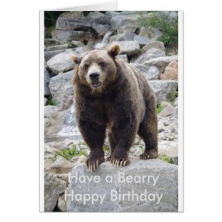 Bearry happy birthday card