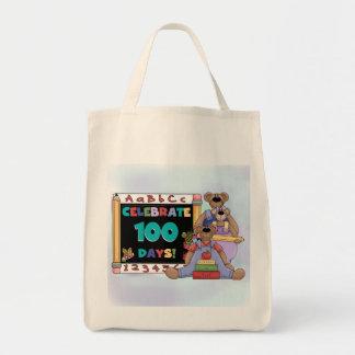 Bears 100 Days of School Tote Bags