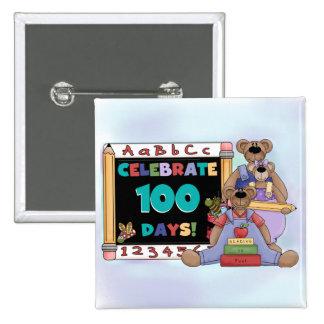 Bears 100 Days of School Pinback Button