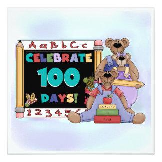 Bears 100 Days of School Invite