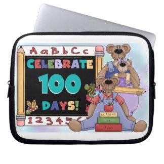 Bears 100 Days of School Laptop Sleeve