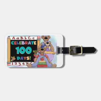 Bears 100 Days of School Tag For Luggage