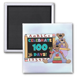 Bears 100 Days of School Refrigerator Magnet
