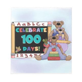 Bears 100 Days of School Memo Note Pads