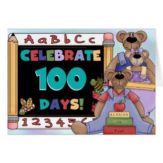 Bears 100 Days of School Note Card