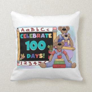 Bears 100 Days of School Pillow