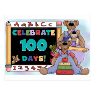 Bears 100 Days of School Postcard