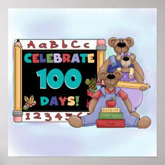 Bears 100 Days of School Poster
