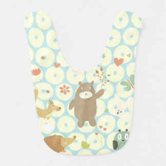 Bears and animal, celestial spots personalize baby bibs