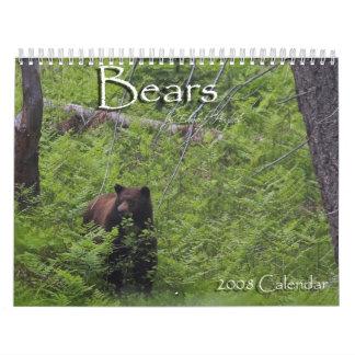 Bears by Edward Hughes Wall Calendar