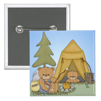 Bears Camping Button