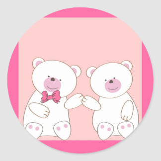Bears couple classic round sticker