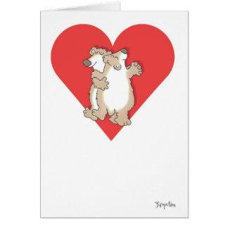 BEARS DANCING Valentines by Boynton Greeting Card