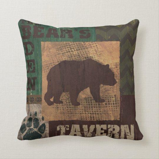 Bears Den Tavern Pillow Cabin decor