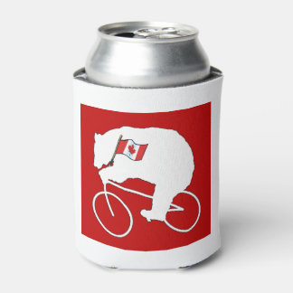 Bears Do It Canada Day Beverage Can Cooler