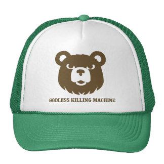 bears godless killing machines humor funny tshirt mesh hats