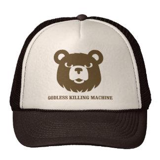 bears godless killing machines humor funny tshirt hat