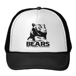 bears godless killing machines humor funny tshirt mesh hat
