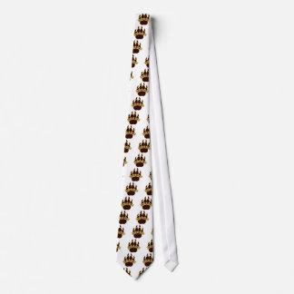 BEARS Gold & Brown Pawprint Tie