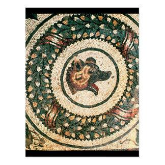 Bear's Head, Roman mosaic, early 4th century Postcard