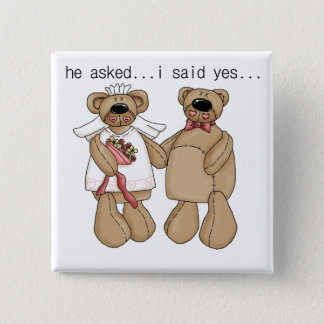 Bears I Said Yes Tshirts and Gifts 2 Inch Square Button