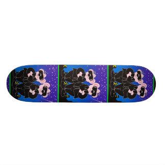 """BEARS IN BLACK ALIEN CARTOON Skateboard 7¾"""""""