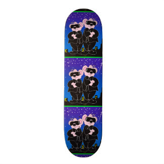 BEARS IN BLACK ALIEN CARTOON Skateboard 7 7/8""