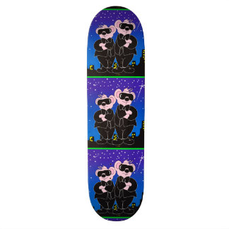 BEARS IN BLACK ALIEN CARTOON Skateboard 8½""