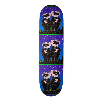 BEARS IN BLACK ALIEN CARTOON Skateboard 8 1/8""
