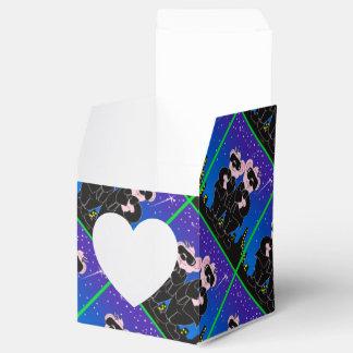 BEARS IN BLACK CARTOON Heart 2x2 Box Party Favor Box