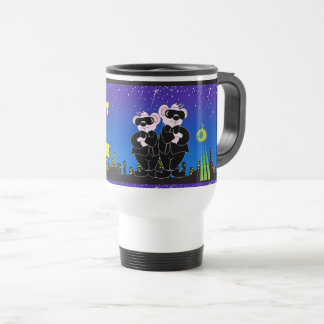 BEARS IN BLACK CARTOON Travel/Commuter Mug W